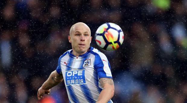 Aaron Mooy was Huddersfield's man of the match against Manchester United