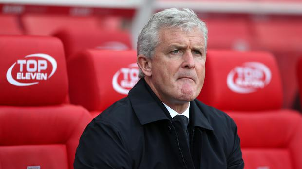 Mark Hughes' Stoke are only out of the relegation zone on goal difference
