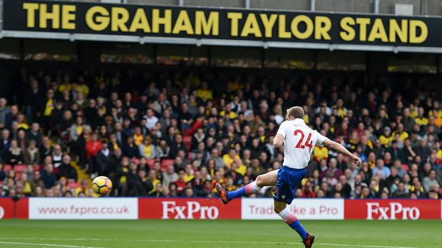 Stoke's Darren Fletcher cracks home the winner at Watford