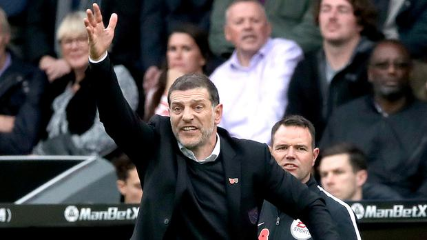 There was late frustration for Slaven Bilic