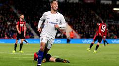 Chelsea's Eden Hazard scored the only goal of the game