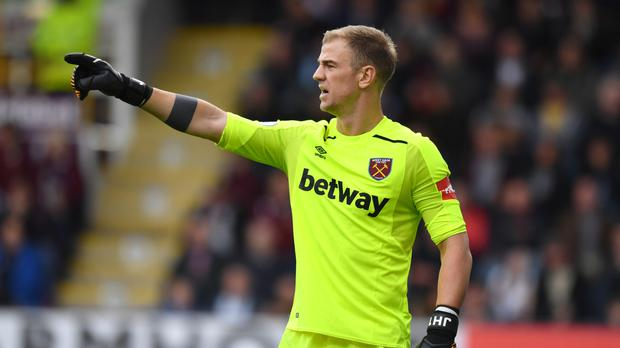 Joe Hart made a string of saves against Crystal Palace on Saturday.