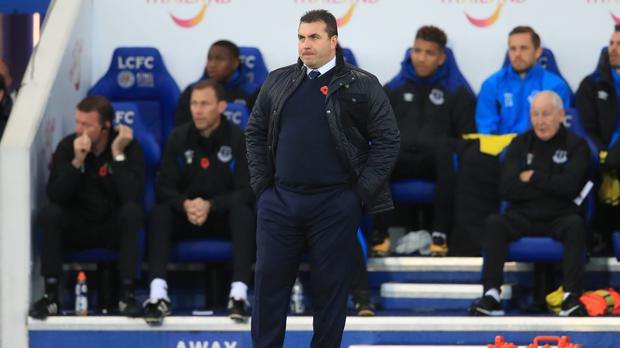 Everton caretaker manager David Unsworth, pictured, took charge after the sacking of Ronald Koeman