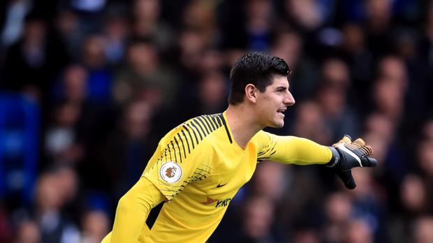 Chelsea goalkeeper Thibaut Courtois was unable to prevent defeat against Roma on Tuesday