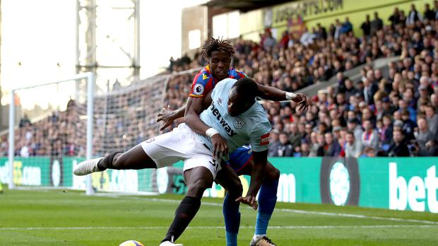 Michail Antonio (front) was at fault for Crystal Palace's equaliser last week