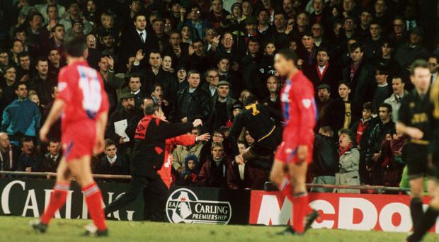 Manchester United's Eric Cantona attacked a Palace fan in January 1995