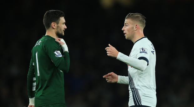 Hugo Lloris, left, and Toby Alderweireld, right, will miss Sunday's game against Crystal Palace