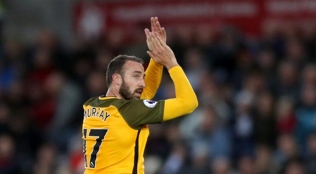 Glenn Murray was on target for Brighton in their Premier League game at Swansea.