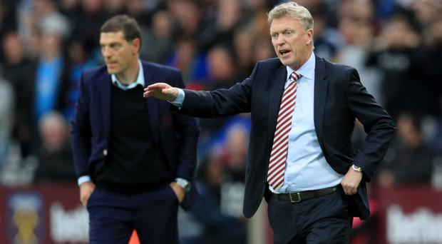 David Moyes, right, has replaced Slaven Bilic, left, as West Ham manager