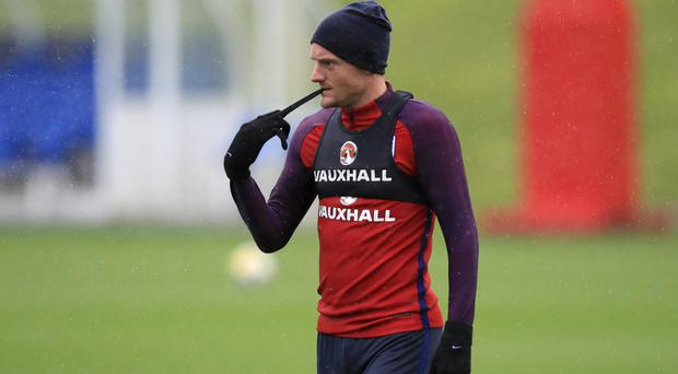 England's Jamie Vardy hopes to impress Gareth Southgate and secure a place at the World Cup