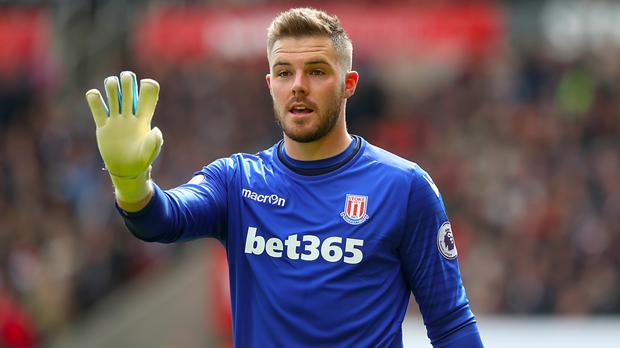 Jack Butland is likely to be sidelined for between three and five weeks with a broken finger