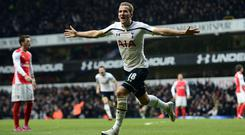 Harry Kane scored a brace against Arsenal in February 2015