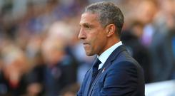 Chris Hughton is gearing up for a testing run of games
