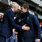 Arsene Wenger, left, and Mauricio Pochettino, right, go head to head on Saturday