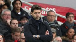 Tottenham boss Mauricio Pochettino looked unimpressed with his side's showing