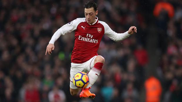 Mesut Ozil starred for Arsenal against Tottenham