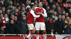 Alexis Sanchez and Mesut Ozil, right, were at their best for Arsenal