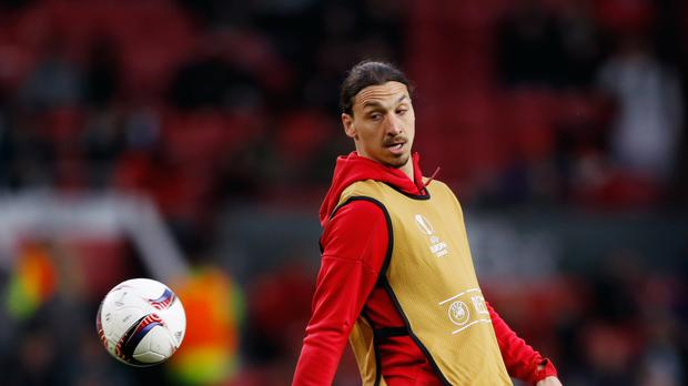 Zlatan Ibrahimovic was poised to make his Manchester United return against Newcastle