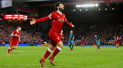 Mohamed Salah was the toast of Anfield