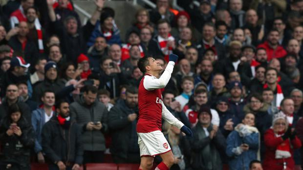 Arsenal forward Alexis Sanchez scored against Tottenham in the north London derby