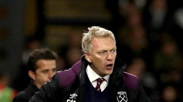 David Moyes suffered defeat in his first match in charge at West Ham