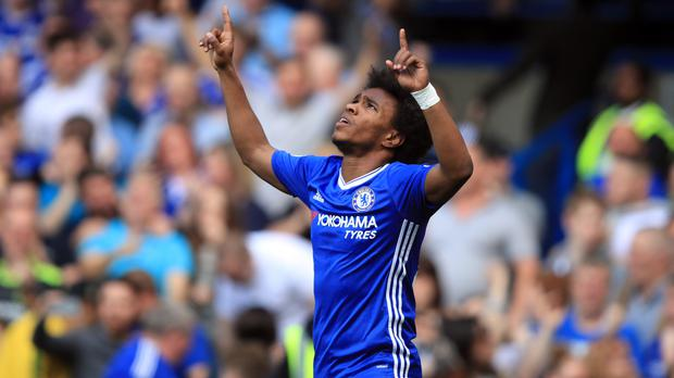 Willian was influential in Chelsea's victory