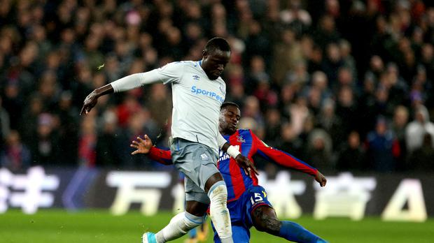 Oumar Niasse (left) is the first Premier League player to be hit with a retrospective suspension for simulation