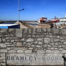 A general view of the Bramley Moore Dock site in Liverpool