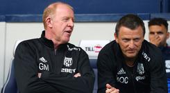 Gary Megson, left, and Mark O'Connor, right, are in charge of the first team after West Brom sacked manager Tony Pulis