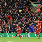 Chelsea's Willian scores the equaliser at Anfield