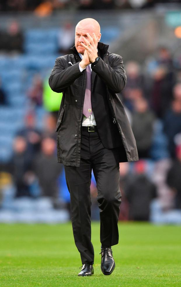 It is hard to see Dyche walking away from it at this stage Photo: PA