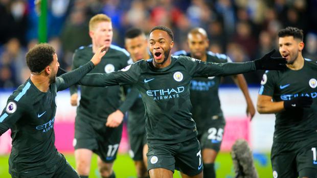 Raheem Sterling scored a late winner for Manchester City at Huddersfield