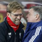 Liverpool manager Jurgen Klopp, pictured, has embraced Sam Allardyce's appointment at Everton