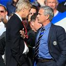 Arsene Wenger, left, and Jose Mourinho have faced each other 13 times in the Premier League