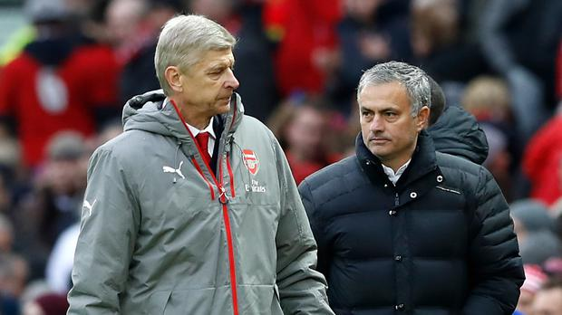 Arsene Wenger, left, and Jose Mourinho