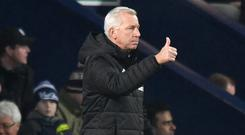 West Brom boss Alan Pardew settled for a 0-0 draw in his first game in charge