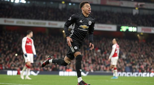 Jesse Lingard's double helped down Arsenal