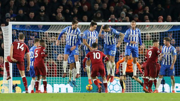 Philippe Coutinho's cheeky free-kick lit up Liverpool's win at Brighton