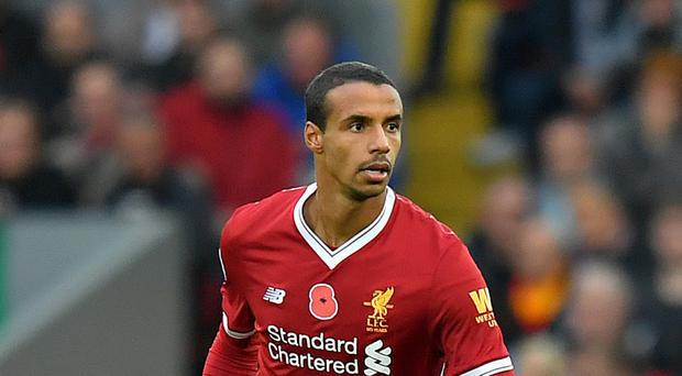 Joel Matip sustained a thigh injury in the recent win at Stoke