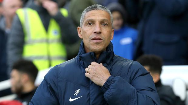 Chris Hughton, pictured, was initially angry after appearing to see his offer of a handshake snubbed by Jurgen Klopp