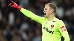 England keeper Joe Hart has been dropped for West Ham's home clash with Chelsea