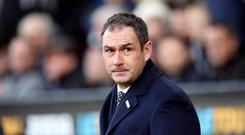 Swansea boss Paul Clement celebrated a first Premier League win in two months