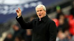 Stoke boss Mark Hughes saw his side thrashed 5-1 at Tottenham on Saturday
