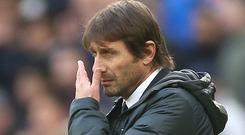 Defeat left Antonio Conte writing off Chelsea's title hopes