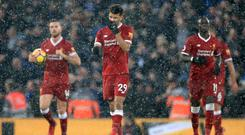 Dominic Solanke, pictured centre, did not take his chance in the Merseyside derby.
