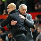 Pep Guardiola, left, can crack open the champagne after another winning Premier League weekend