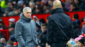 Jose Mourinho was involved in a post-match fracas after Pep Guardiola's City won the derby