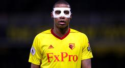 Watford's Marvin Zeegelaar was sent off against Burnley
