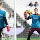Joe Hart, left, has lost his West Ham place to Adrian, right