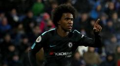 Willian was involved in all three goals for Chelsea